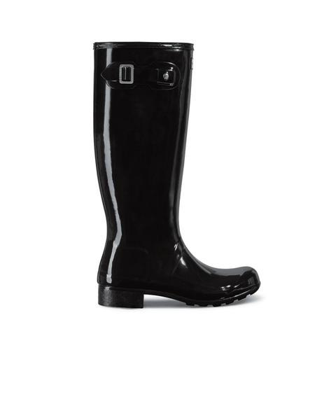 Women's Original Tour Foldable Gloss Tall Wellington Boots