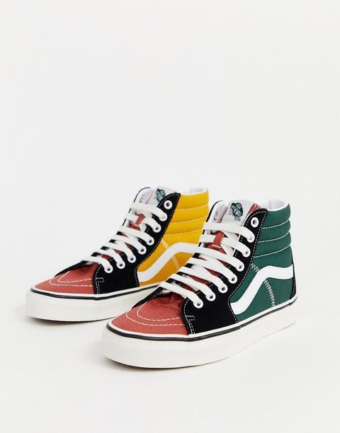 Zapatillas Colour Block Sk8-hi De Vans-multicolor de ASOS en 21 Buttons