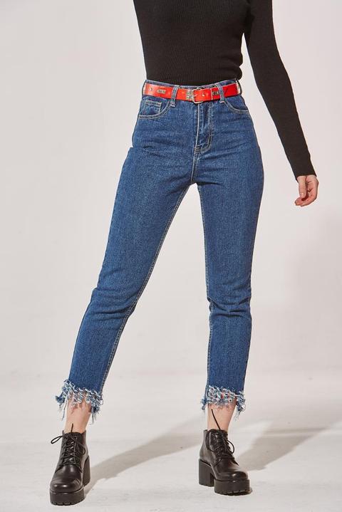 Camille Dark Fringed Jeans