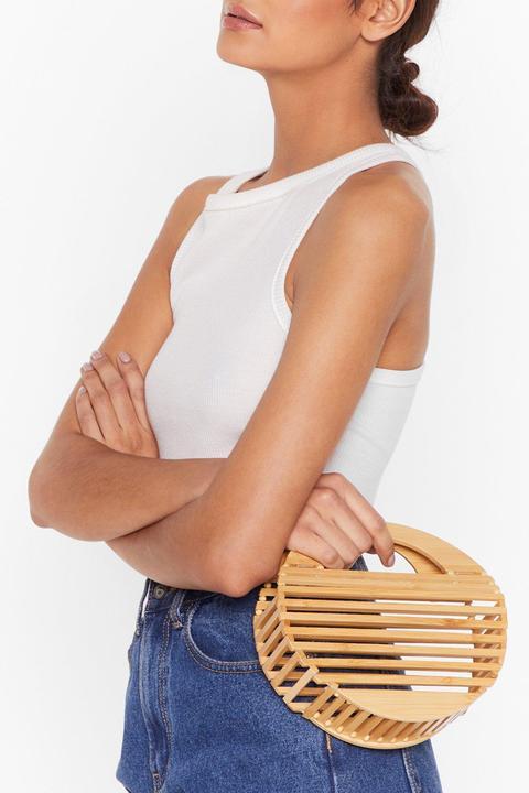 Womens Want Nothing We Wooden Do Circle Grab Bag