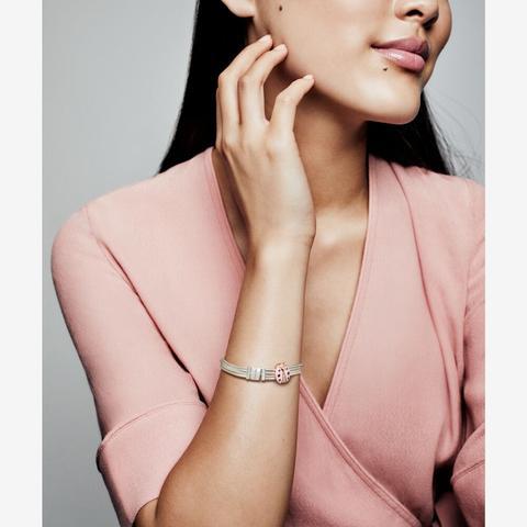 bracciale multifilo pandora rosa