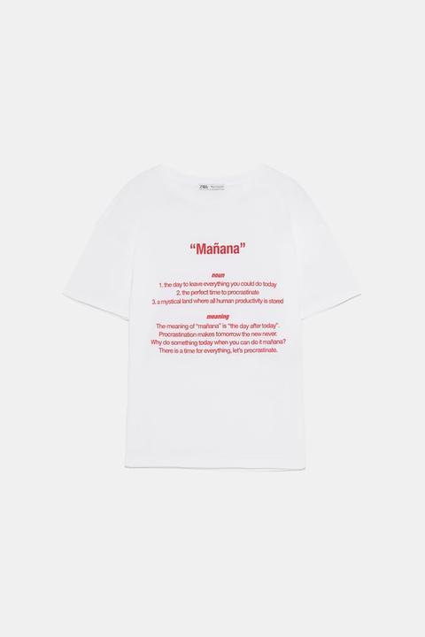 T-shirt Con Scritta Frontale