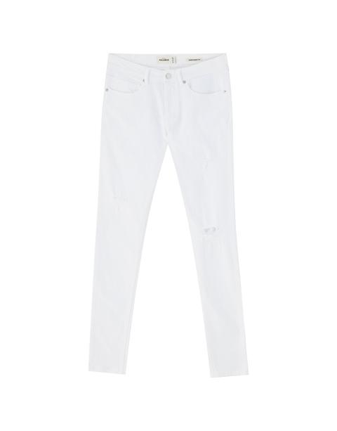 Jeans Super Skinny Blancos