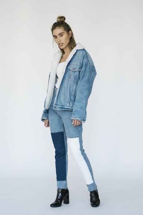 Jeffrey Stone Bicolor Mid Wash Jeans
