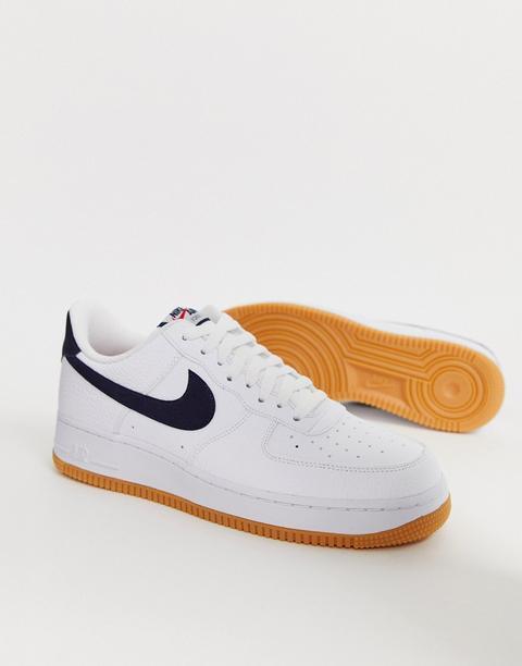 Zapatillas De Deporte Con Logo En Azul Marino Y Suela De Goma Air Force 1 De Nike de ASOS en 21 Buttons