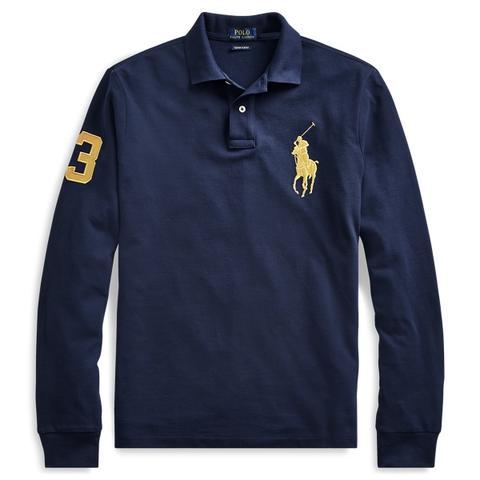 À Longues Cintré Lauren Buttons 21 Polo On Manches From Ralph Ultra ywOn0vNm8