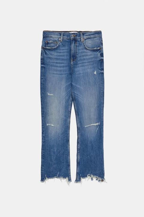 Jeans Zw Premium Bootcut Cropped Vintage Blue