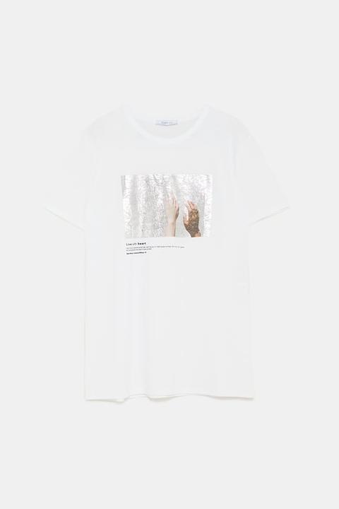 Camiseta Estampado Combinado