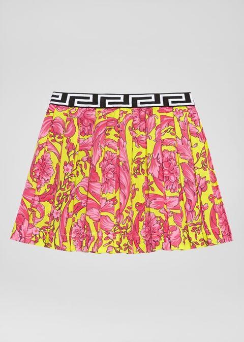 Fluo Barocco Print Skirt de Versace en 21 Buttons