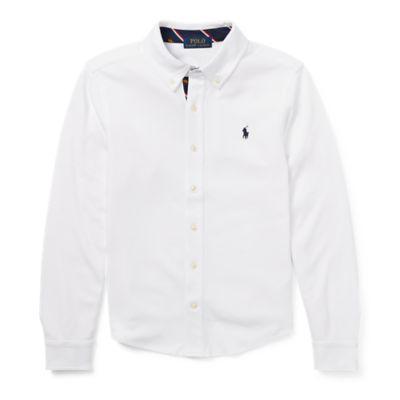 Camisa De Algodón Interlock de Ralph Lauren en 21 Buttons