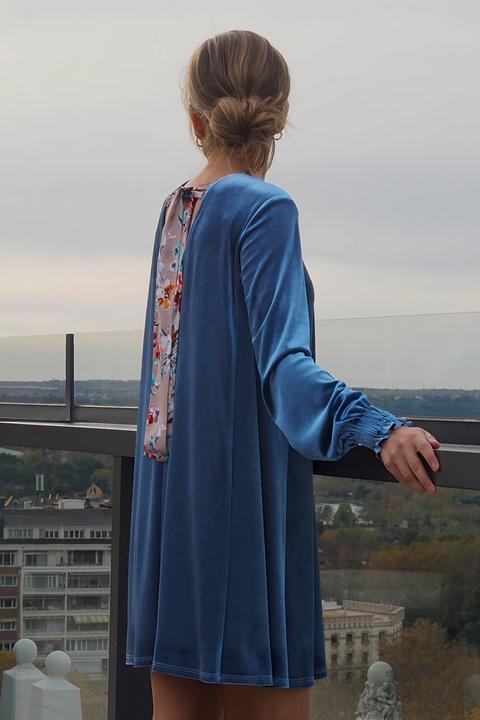 Vestido Velvet Azul