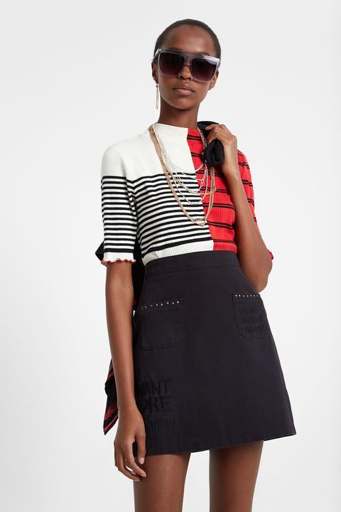 Minifalda Denim Tachuelas de Desigual en 21 Buttons