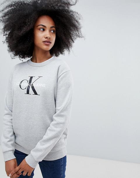 Sudadera Con Logo De Calvin Klein Jeans de ASOS en 21 Buttons