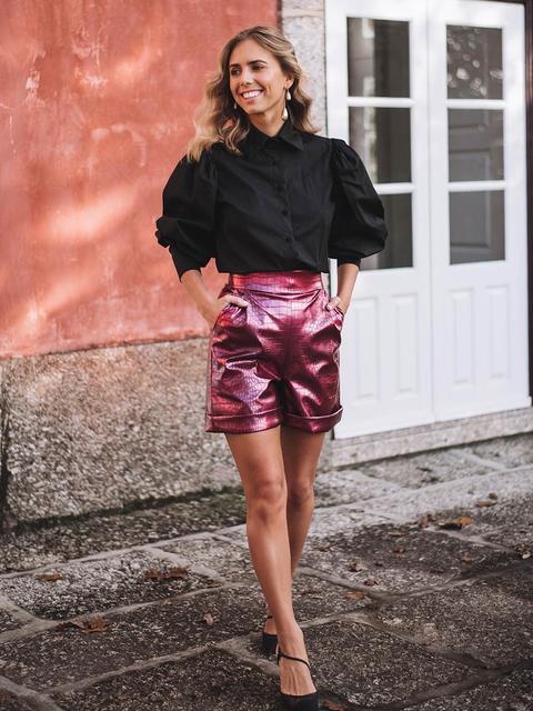 Shorts Rosas Efecto Cocodrilo de KAOA en 21 Buttons