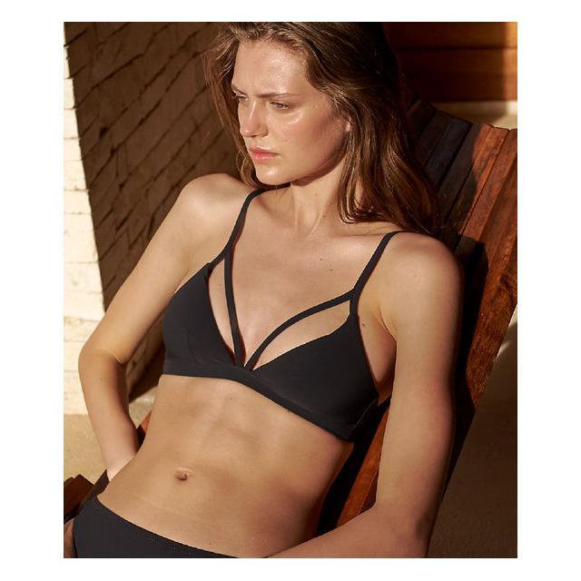 01118c9994bf Sujetador Bikini Triangular Estampado Floral - Ivy - 40 - Verde - Mujer -  Etam de Etam en 21 Buttons