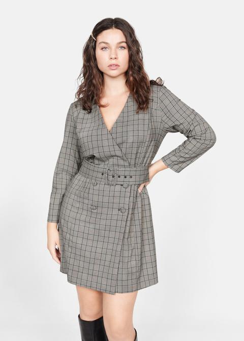 ropa deportiva de alto rendimiento tienda oficial diseño de calidad Vestido Cuadros Cinturón from Mango on 21 Buttons