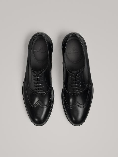 Zapato Vestir Picados Piel Negro de Massimo  Dutti en 21 Buttons