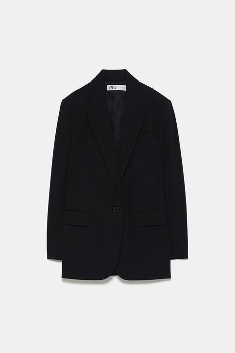 Oversized Single-button Blazer from Zara on 21 Buttons