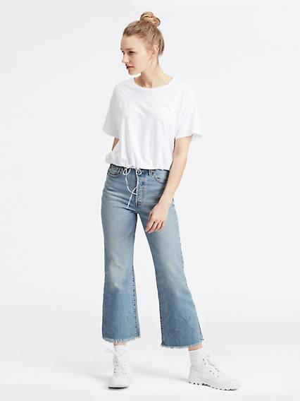 Ribcage Crop Flare Jeans Negro / Scapegoat de Levi's en 21 Buttons