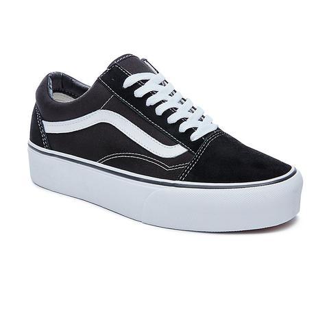Vans Platform Old Skool Shoes (black/white) Women Black