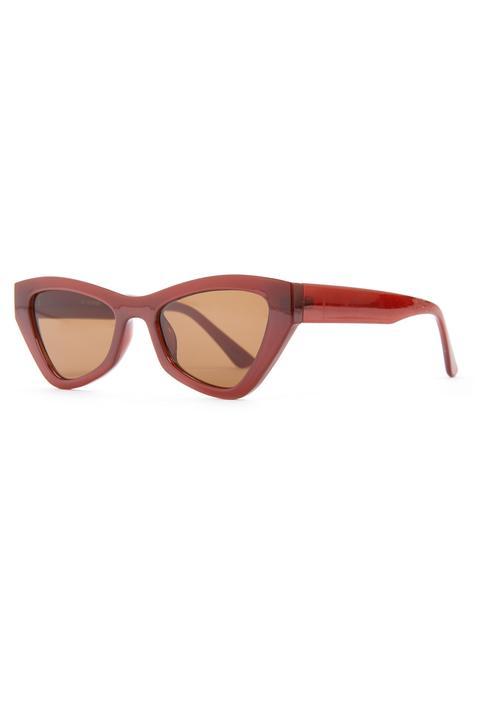 Gafas De Sol Grandes Y Angulares Rojas Estilo Ojos De Gato