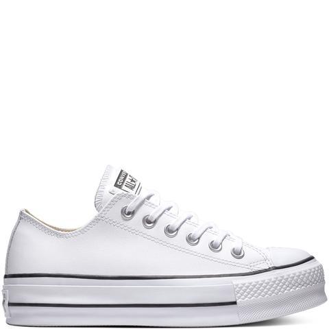 Converse Chuck Taylor All Star Lift Clean Leather Low Top White, Black de Converse en 21 Buttons