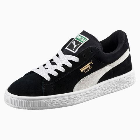 Zapatillas Juveniles Suede, Blanco/negro, Talla 35.5 | Puma de Puma en 21 Buttons