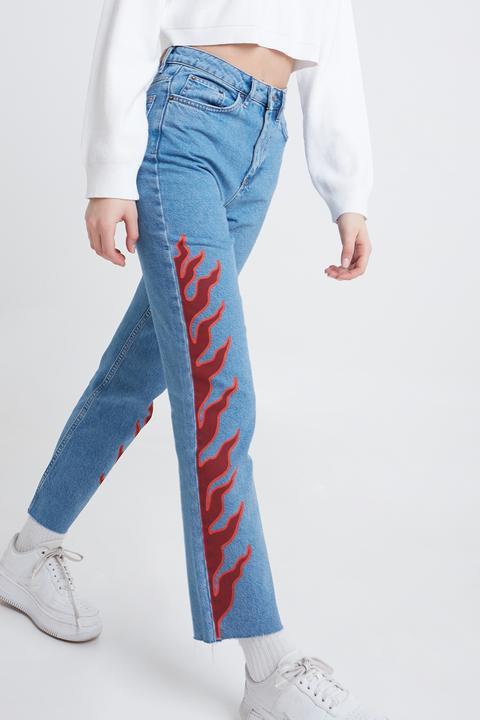 Jeans Boyfriend Llamas de SUBDUED en 21 Buttons