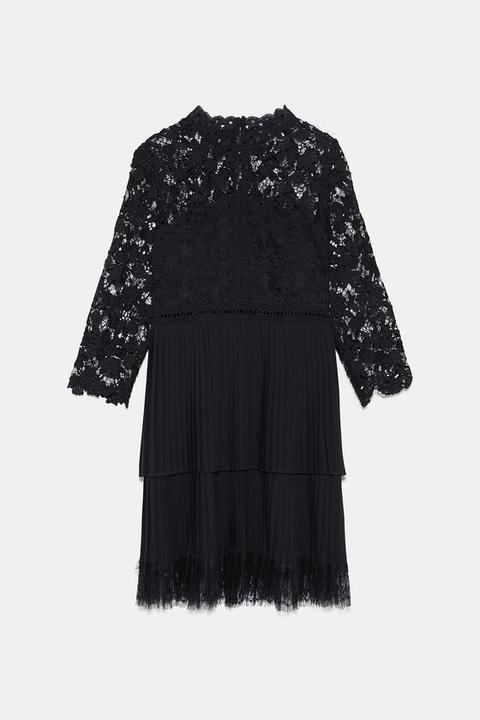 Kombiniertes Kleid Mit Spitze from Zara on 21 Buttons