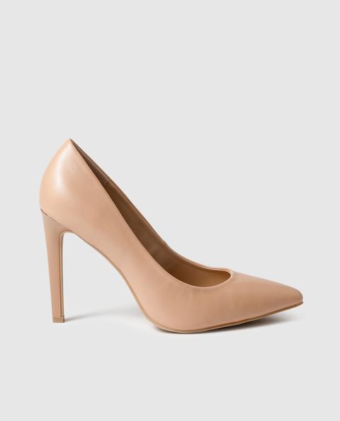 Fórmula Joven - Zapatos De Salón De Mujer De Color Beige