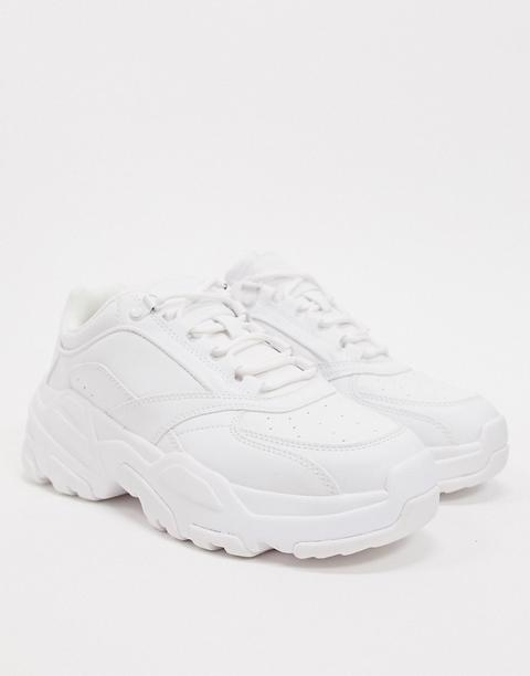 Bershka Chunky Trainer In White from