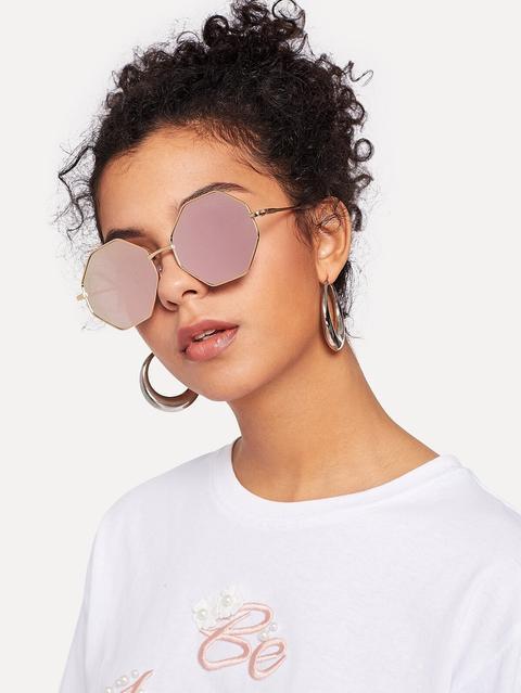 Gafas De Sol Octogonales from Romwe on 21 Buttons