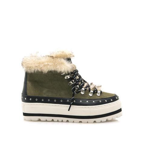 Botín De Pelo Harvin Negro-combi de Sixtyseven Shoes en 21 Buttons