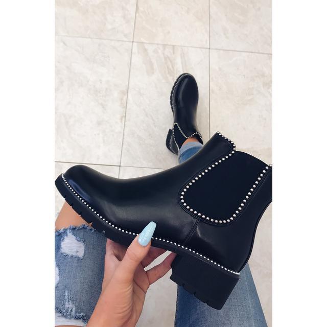 Gigi Black Studded Chelsea Boots from