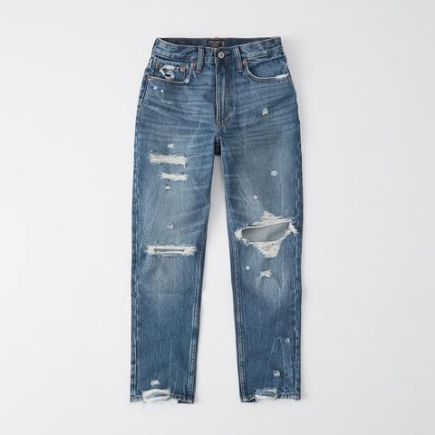 High Rise Mom-jeans Mit Rissen