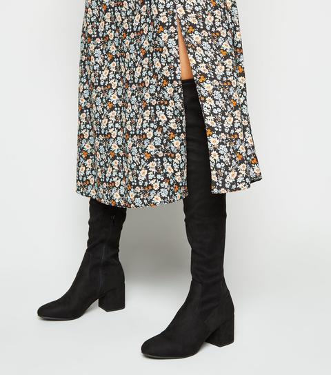 Knee Heeled Boots New Look Vegan