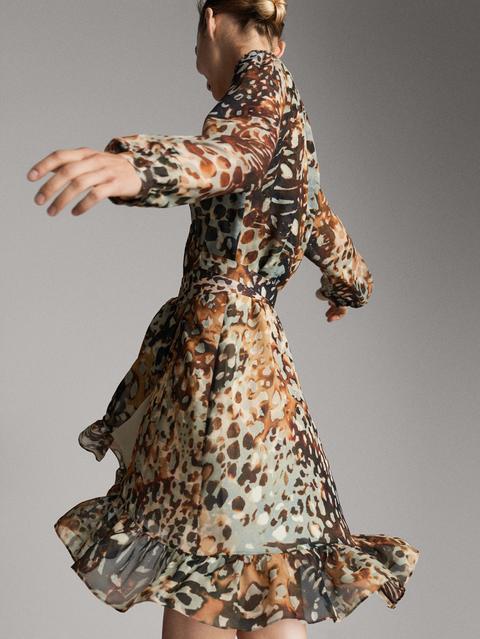 Vestido Pareo Estampado de Massimo  Dutti en 21 Buttons