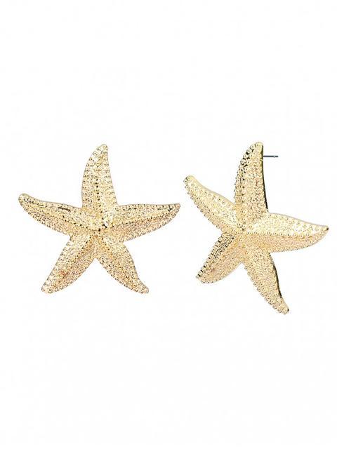 gran descuento b5579 86835 Forma De Estrella De Mar Tallada Aretes Gold Silver from Zaful on 21 Buttons