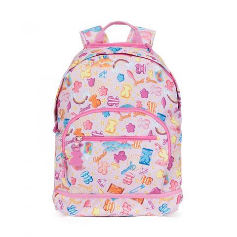 Mochila De Ruedas School Candy De Lona En Color Multi-rosa de Tous en 21 Buttons