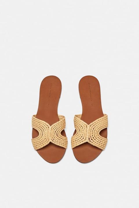 Flat Natural Sandals