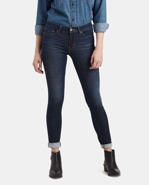 Levi's - Vaquero De Mujer 711 Skinny En Color Azul Marino de El Corte Ingles en 21 Buttons