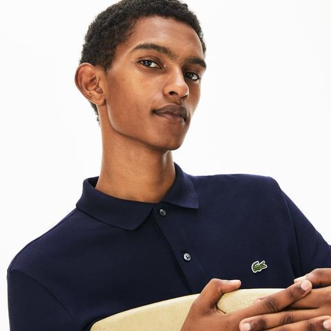 Polo Slim Fit Lacoste A Maniche Lunghe In Petit Piqué Tinta Unita de Lacoste en 21 Buttons