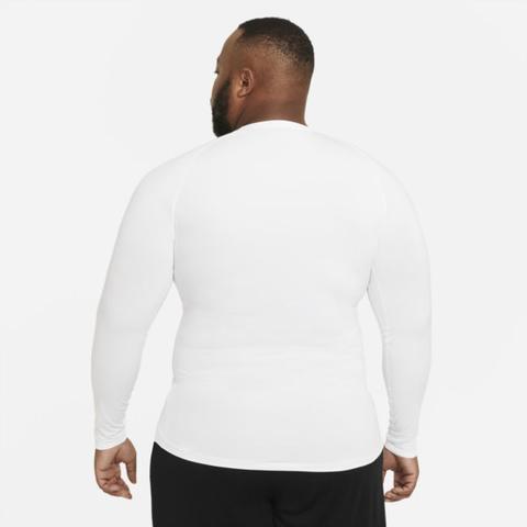 Nike Pro Men's Tight-fit Long-sleeve Top - White