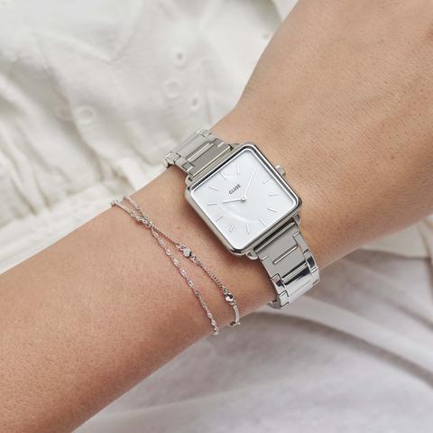La Tétragone Steel White Pearl, Silver Colour
