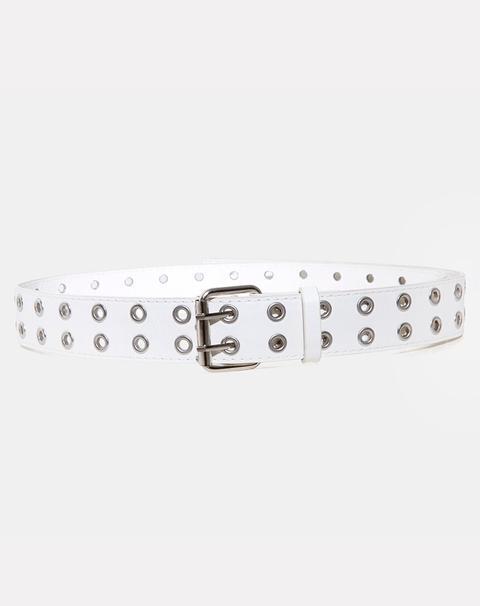 White grommet belt