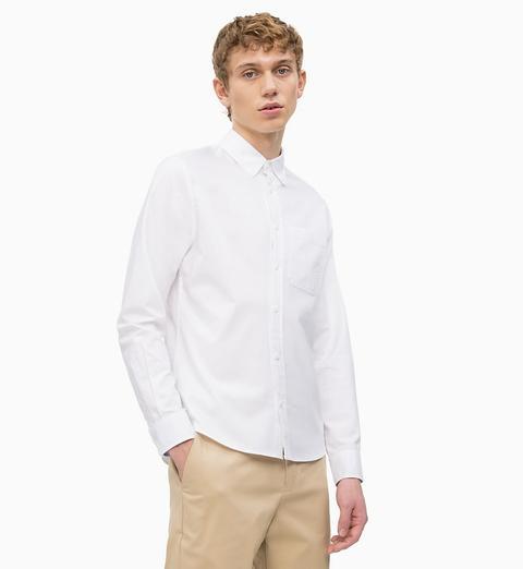 official photos a8c10 5e600 Camicia In Cotone Oxford Vestibilità Slim from Calvin Klein on 21 Buttons