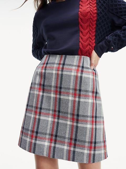 Minifalda De Cuadros de Tommy Hilfiger en 21 Buttons
