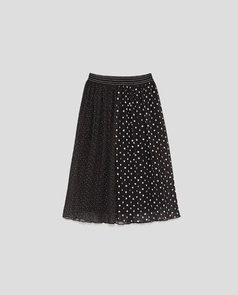 sale retailer 50b34 e5d3f Gonna Plissettata A Pois from Zara on 21 Buttons