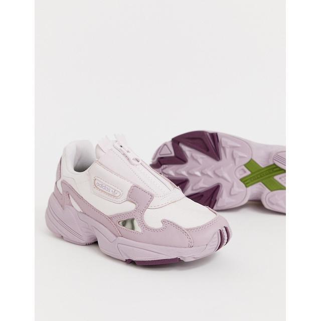 Modelo En Lila Zip Falcon De Adidas Originals-violeta ASOS sur 21 Buttons