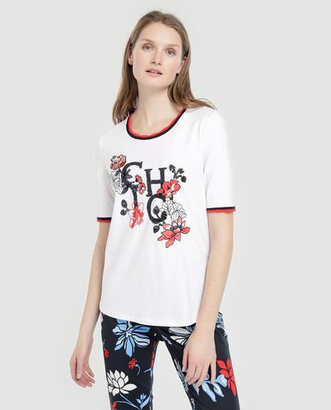 Betty Barclay - Camiseta De Mujer Con Flores Y Vivos de El Corte Ingles en 21 Buttons